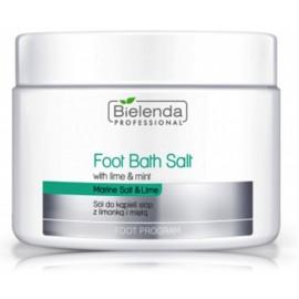 Bielenda Foot Bath Salt White Lime & Mint atjaunojošs  sāls kāju vannām