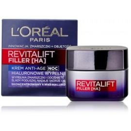 Loreal RevitaLift Filler nakts pretgrumbu sejas krēms 50 ml.