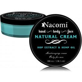 Nacomi Natural Cream For Men dabīgs krēms vīriešiem 100 ml.