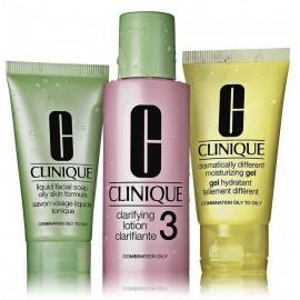 Clinique 3 Step Skin Care System sejas kopšanas komplekts (sejas ziepes + tīrīšanas losjons + mitrinošs gēls)