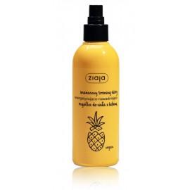 Ziaja Pineapple atsvaidzinošs un mitrinošs ķermeņa sprejs ar kofeīnu