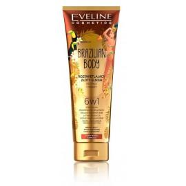 Eveline Brazilian Body Illuminating Golden Elixir tonējošs ķermeņa krēms