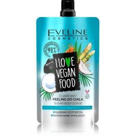 Eveline I Love Vegan Food Coconut Detox ķermeņa skrubis