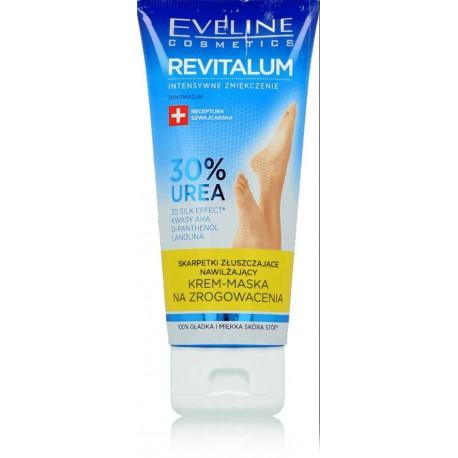 Eveline Revitalum 30% Urea pėdų kremas-kaukė