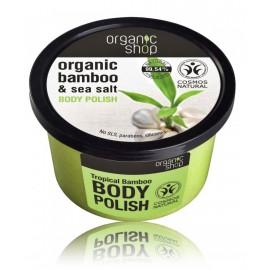 Organic Shop Organic Bamboo & Sea Salt Body Polish ķermeņa skrubis