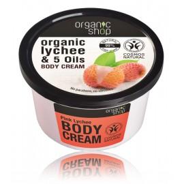 Organic Shop Organic Lychee & 5 Oils Body Cream ķermeņa krēms