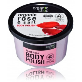 Organic Shop Organic Rose & Salt Body Polish ķermeņa skrubis