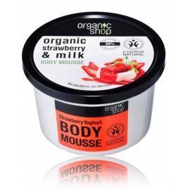 Organic Shop Organic Strawberry & Milk Body Mousse ķermeņa putas