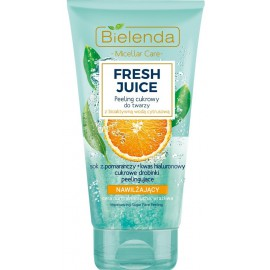 Bielenda FRESH JUICE Moisturizing Face Sugar Scrub mitrinošs skrubis ar citrusaugļu ūdeni un apelsīnu sulu