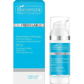 Bielenda Professional SupremeLab Hydrating & Lifting Face Cream With Hyaluronic Acid SPF15 tonizējošs sejas krēms