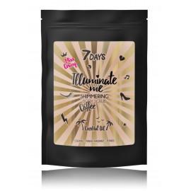 7DAYS Illuminate Me Shimmering Coffee Body Scrub Miss Crazy ķermeņa skrubis