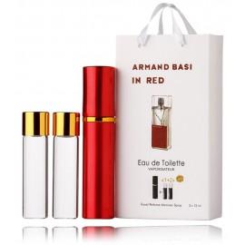 Armand Basi In Red komplekts sievietēm (15 ml. EDT + 2 x 15 ml. papildinājums)
