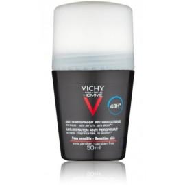 Vichy Homme Deo Antiperspirant Roll-on Sensitive rutulinis antiperspirantas vyrams