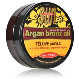 Vivaco SUN Argan Bronz Oil kūno sviestas su argano aliejumi deginimuisi