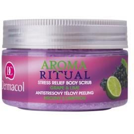 Dermacol Aroma Ritual Body Scrub Grape&Lime ķermeņa tīrīšanas līdzeklis 200 g.