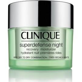 Clinique Superdefense Night Recovery atjaunojošs nakts sejas krēms sausai/jauktai ādai 50 ml.