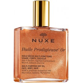 Nuxe Multifunctional dry oil sausā eļļa ar mirdzošām daļiņām sejai/ķermenim/matiem