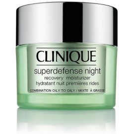 Clinique Superdefense Night Recovery atjaunojošs nakts sejas krēms jauktai/taukainai ādai 50 ml.