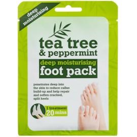 Носки-маски для ног Xpel Tea Tree & Peppermint с маслом чайного дерева