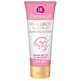 Dermacol Hyalluron Therapy Wash Cream tīrīšanas līdzeklis sejai un acīm 100 ml.