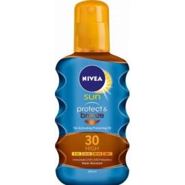 Nivea Sun Protect & Bronze purškiamas aliejus nuo saulės su SPF30 200 ml.