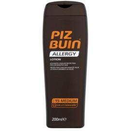 Piz Buin Allergy Lotion SPF15 aizsargājošs losjons jūtīgai ādai 200 ml.