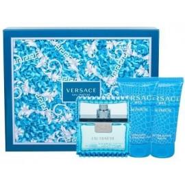 Versace Man Eau Fraiche komplekts vīriešiem (50 ml. EDT + 50 ml. dušas želeja + 50 ml. balzams pēc skūšanās)