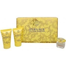 Versace Yellow Diamond mini komplekts sievietēm (5 ml .EDT + 25 ml. ķermeņa losjons + 25 ml. dušas želeja)