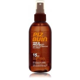 Piz Buin Tan & Protect Tan Accelerating Oil Spray SPF15 aizsargājošs eļļa sekmējošs iedegumu 150 ml.
