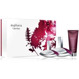 Calvin Klein Euphoria komplekts sievietēm (100 ml. EDP + 30 ml. EDP + 100 ml. ķermeņa losjons)