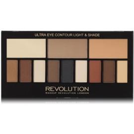 Makeup Revolution Ultra Eye Contour Light & Shade ēnu palete 14 g.
