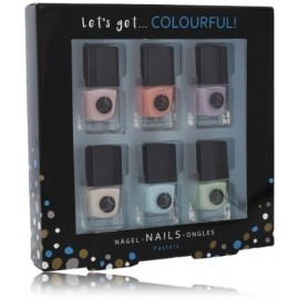 2K Let´s Get Colourful! Pastels Nail Polish nagu laku komplekts (6 x 5 ml.)