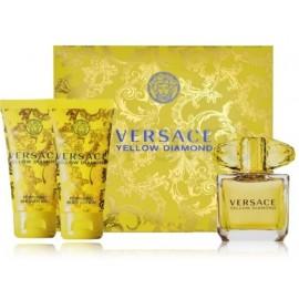 Versace Yellow Diamond komplekts sievietēm (50 ml. EDT + 50 ml. ķermeņa losjons + 50 ml. dušas želeja)