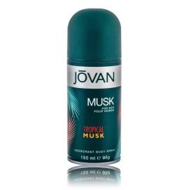 Jovan Tropical Musk izsmidzināms dezodorants vīriešiem 150 ml.