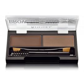 Rimmel Brow This Way komplekts uzacu 2,4 g. krāsa Dark Brown (uzacu vasks + ēnas + otiņas)