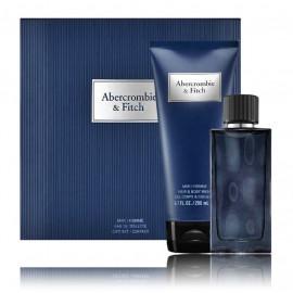 Abercrombie & Fitch First Instinct Blue komplekts vīriešiem (50 ml. EDT + 200 ml. dušas želeja)
