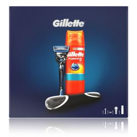 Gillette Fusion ProShield komplekts vīriešiem (skuveklis + želeja + ietvars)