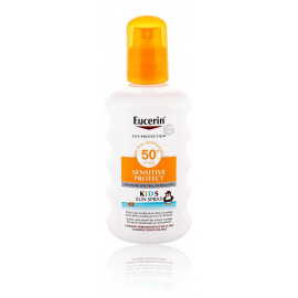 Eucerin Sun Kids Sensitive Protect SPF50+ aerosols pret sauli bērniem 200 ml.