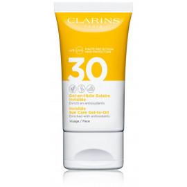 Clarins Invisible Sun Care Gel-to-Oil SPF 30 veido gelis nuo saulės 50 ml.