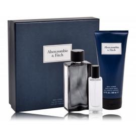 Abercrombie & Fitch First Instinct Blue komplekts vīriešiem (100 ml. EDT + 15 ml. EDT + 200 ml. dušas želeja)