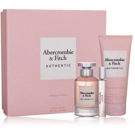 Abercrombie & Fitch Authentic Woman komplekts sievietēm (100 ml EDP + 15 ml EDP + ķermeņa losjons 200 ml)