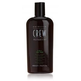 American Crew 3-IN-1 Tea Tree šampūns / kondicionieris / ķermeņa mazgāšanas līdzeklis vīriešiem