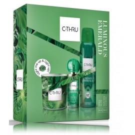 C-Thru Luminous Emerald komplekts sievietēm (30 ml. EDT + 150 ml. dezodorants + svece)